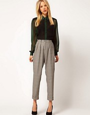ASOS Peg Pants In Check