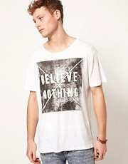 Cheap Monday Tyler No Beliefs T-Shirt