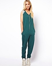 ASOS Onesie with Color Block Shoulder Detail