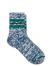 Vanishing Elephant Blue &amp; White Multi Flec Socks
