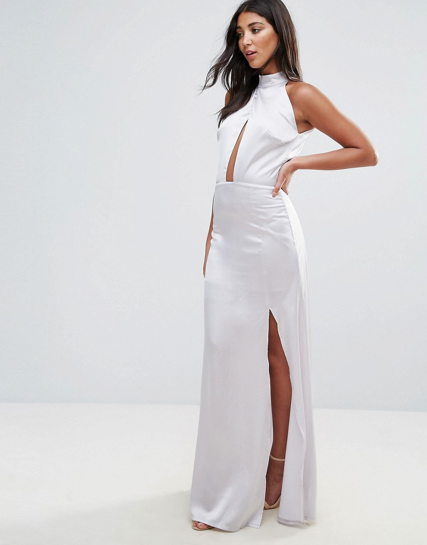 oh-my-love-high-neck-cross-over-panel-maxi-dress-silver