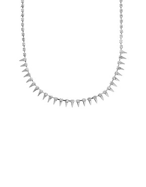 Image 2 of ASOS Under Collar Spike & Stone Necklace