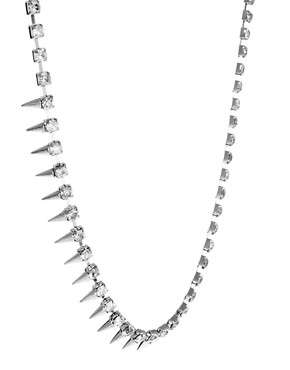 Image 4 of ASOS Under Collar Spike & Stone Necklace