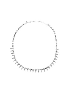 Image 1 of ASOS Under Collar Spike & Stone Necklace