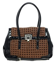 Aubrey Kempton Woven Handbag