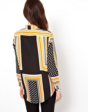 Image 2 ofASOS Shirt In Spot And Stripe Placement Print