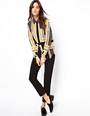 Image 4 ofASOS Shirt In Spot And Stripe Placement Print