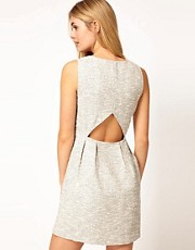 Vila Boucle Dress with Cut Out Back