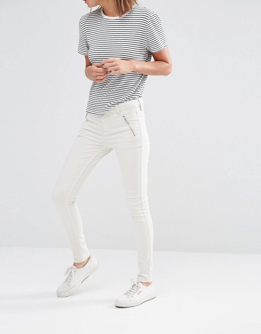 Oasis Zip Pocket Jean - Ecru