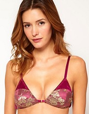 Gilda &amp; Pearl Mae Front Fastening Silk &amp; Lace Soft Bra