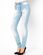 Only Light Wash Destroy Skinny Jean