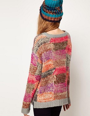 Image 2 ofASOS Jumper In Patchwork Knit