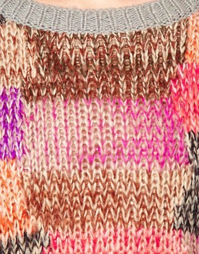 Image 3 ofASOS Jumper In Patchwork Knit