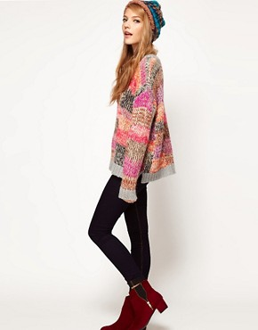 Image 4 ofASOS Jumper In Patchwork Knit