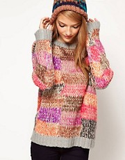 ASOS Jumper In Patchwork Knit
