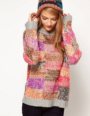 Image 1 ofASOS Jumper In Patchwork Knit
