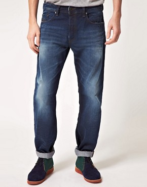 Image 1 ofDiesel Larkee Relaxed Straight Jeans