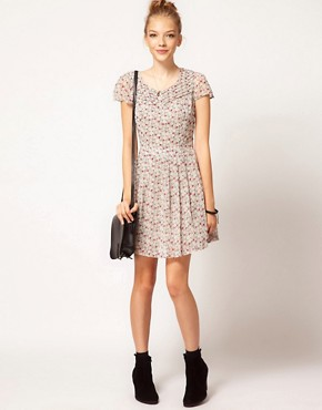 Image 4 ofPepe Ditsy Floral Print Tea Dress