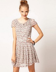 Pepe Ditsy Floral Print Tea Dress