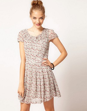 Image 1 ofPepe Ditsy Floral Print Tea Dress