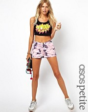 ASOS PETITE Exclusive Tie Dye Shorts