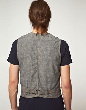 Image 2 ofEdwin Black Chambray Rail Gilet