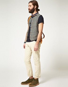 Image 4 ofEdwin Black Chambray Rail Gilet