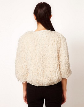 Image 2 ofRiver Island Chelsea Girl Faux Fur Bomber Jacket