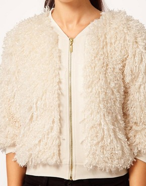 Image 3 ofRiver Island Chelsea Girl Faux Fur Bomber Jacket