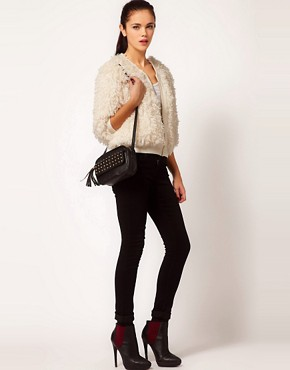 Image 4 ofRiver Island Chelsea Girl Faux Fur Bomber Jacket