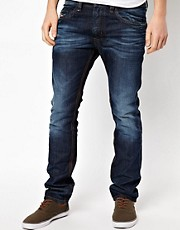 Diesel - Thavar 0806U - Jeans slim fit lavaggio scuro