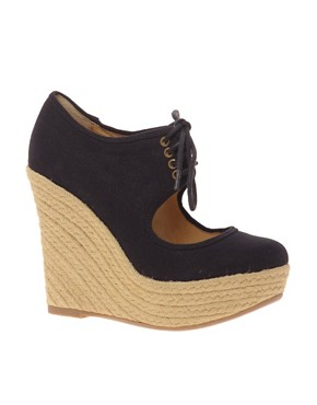 Image 1 of ALDO Tong Lace Front Espadrille Wedge