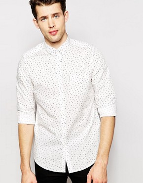Ben Sherman Long Sleeve Scatter Print Shirt