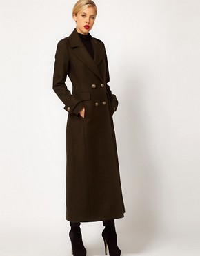 Image 1 ofMango Maxi Military Coat