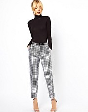 ASOS Pants in Monochrome Check