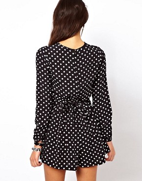 Image 2 ofASOS Playsuit in Spot Print