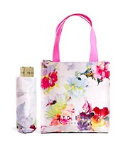Ted Baker Hikaru Orchid Mini Shopper With Umbrella