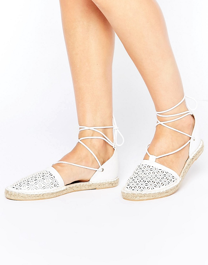 New Look Laser Cut Espadrille - White