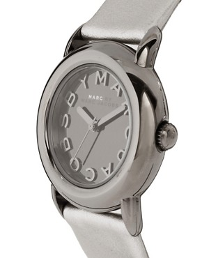 Image 4 ofMarc by Marc Jacobs Silver Leather Strap Watch