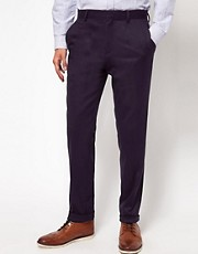 ASOS Skinny Fit Suit Trousers In Navy