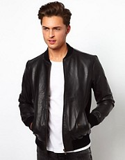 Selected Baseball Leather Jacket