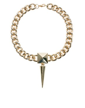 Image 1 ofASOS Chunky Spike Necklace
