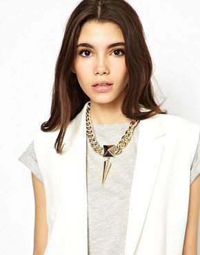 Image 3 ofASOS Chunky Spike Necklace