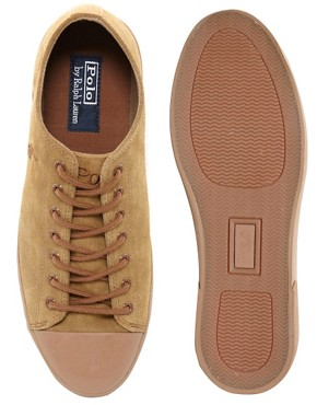 Image 3 ofPolo Ralph Lauren Ferguson Suede Plimsolls