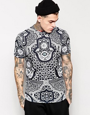 Jaded London T-Shirt In Evil Eye Print