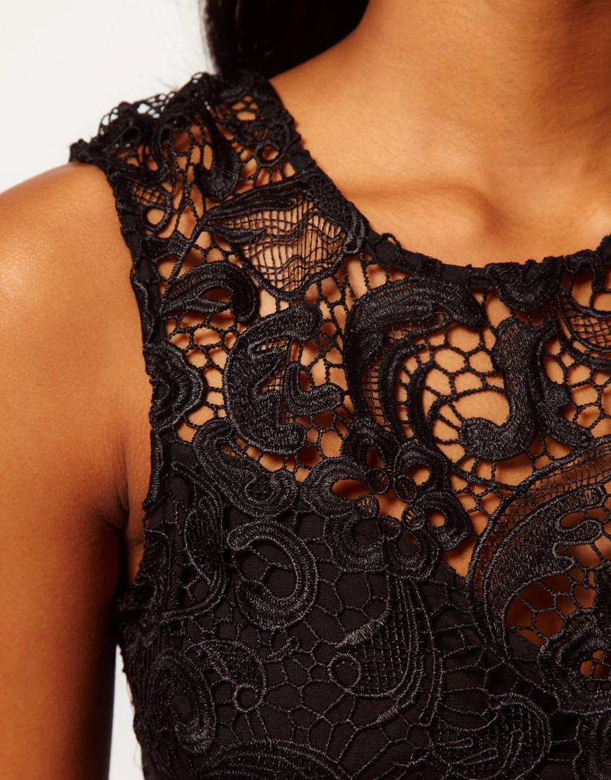 Image 3 ofLipsy VIP Feather Trim Dress