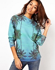 Illustrated People Palm Print Sweatshirt