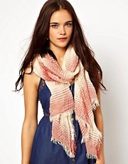 River Island Check Gauze Ladder Scarf