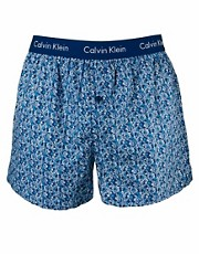 Calvin Klein Floral Woven Boxer Slim Fit