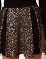 Image 3 ofHunt No More &#39;Right Now&#39; Sequin Insert Skater Skirt